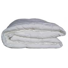 Trapunta in PURA LANA VERGINE 450 gr e tessuto percalle di puro cotone bianco