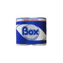 carta igienica BOX confezione da 4 rot cad. 2 veli pura ovatta 2400 strappi