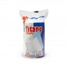 Confezione 1 rotolo - Asciugatutto Titano pura ovatta 275 strappi 2 veli