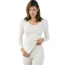 Maglia donna manica lunga 40% angora 60% cotone