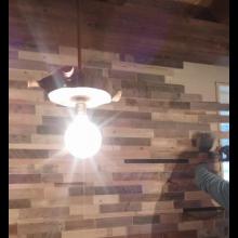 Lampada in Cipresso