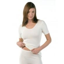 Maglia donna mezza manica 40 angora 60 cotone