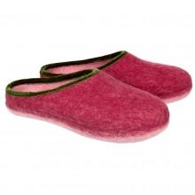 Pantofole in feltro aperte col rosso 35-40