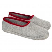 Pantofole in feltro chiuse colore grigio 30-34