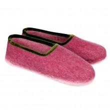 Pantofole in feltro chiuse colore rosso 35-40