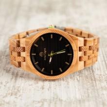 Orologio da polso, Cinturino da 21 a 24mm, cassa in legno di ulivo 42mm