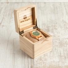 Orologio da polso, cinturino 20mm, Cassa in legno di ulivo, 45mm