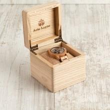Orologio da polso, cinturino da 20mm, cassa in legno di ulivo 42mm