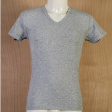 T-Shirt Uomo Scollo a V Mezza Manica Colore Grigio Taglia 6°a
