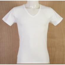 T-Shirt Uomo Scollo a V Mezza Manica Colore Naturale Taglia 5°a