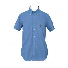 Camicia 100% Cotone Mezza Manica Unisex Colore Azzurro Taglia 43