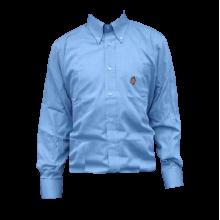 Camicia 100% Cotone Manica Lunga Unisex Colore Azzurro Taglia 40