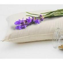 Guanciale in cotone biologico e fiori di lavanda