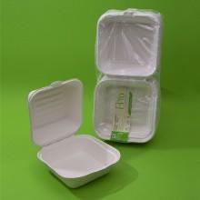 CARTONE 10 CONFEZIONI - BOX IN POLPA HAMBURGER ml. 450 x 50 PZ. Cm.15x15
