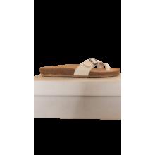 Ciabatte Sugherine Numero 40 Colore Bianco Tomaia in Pelle a Concia Vegetale Suola Sughero Fondo Para