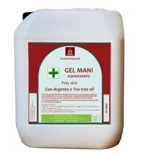 Gel mani igienizzante argento puro e tea tree oil Confezione 5 LT