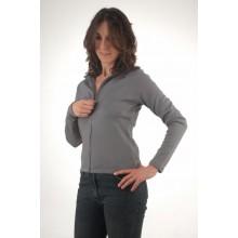 Maglia donna con zip lunga