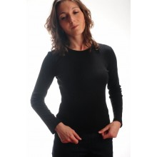 T-shirt donna girocollo m /lunga interlock
