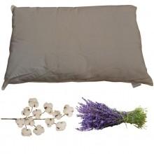 Guanciale in cotone e fiori di lavanda
