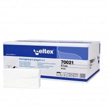 """Cartone da 150x24 confezioni - Asciugamani per bagno piegati a """"C"""" 23x32, 2 veli"""